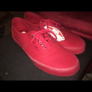 All Red Low Top Vans