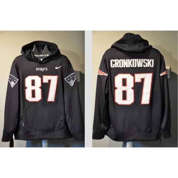 newest collection a1423 ac52c Rob Gronkowski Patriots Jersey hooded sweatshirt