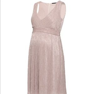 blush toned sparkly maternity dress (worn once)