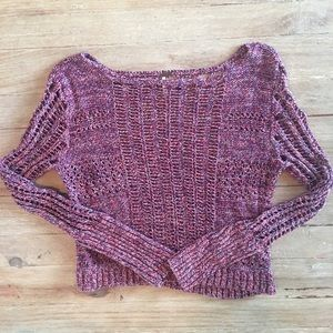 Free People cropped distressed sweater top