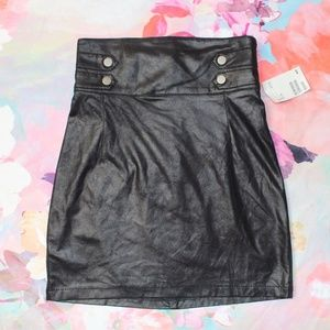NWT Divided H&M Faux Leather High Waist Skirt
