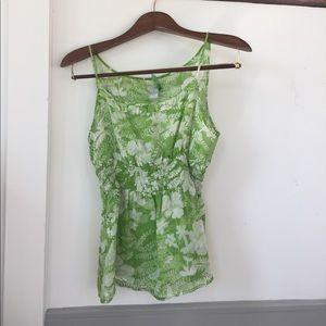VCUC- Odille silk chiffon camisole in greenery