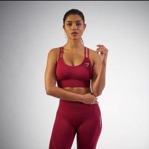 Gymshark Intimates & Sleepwear - NWT Gymshark Seamless Bra beet red