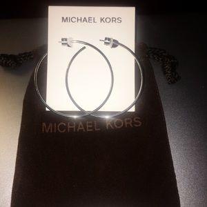 MK hoop earrings