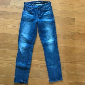 """7 for all mankind skinny """"kimmie"""" crop jean"""