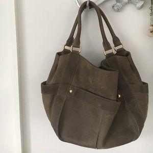 J. Crew suede taupe purse