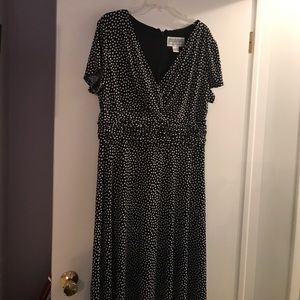 Jessica Howard Polka Dot Navy Dress