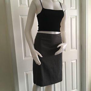 Banana Republic Gray Pinstripe Skirt 0