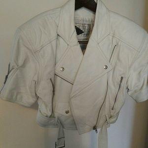 White Leather Shorty Jacket