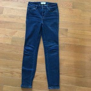 Free Peoole dark wash skinny jeans
