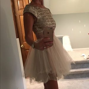 36e5d87f4e71a Trixxi Dresses - Rose gold and cream Homecoming Prom dress
