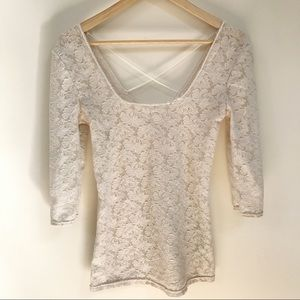 Free People Intimately Lace Criss Cross Top