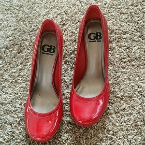 GB Gianni Bini Red Patent Heels