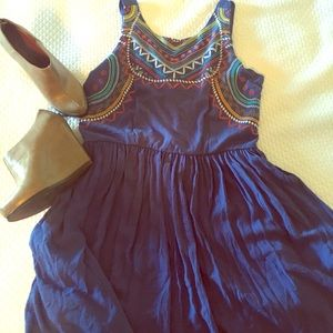 Cute embroidered short dress