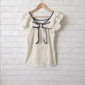 Anthropologie Bow Front Blouse