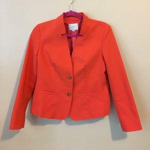 Red-Orange Loft Blazer