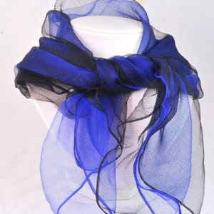Accessories - Scarfs Set of 2 Black and Purple Sheer Great Layer