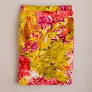 J. Crew Impressionist Pencil Skirt