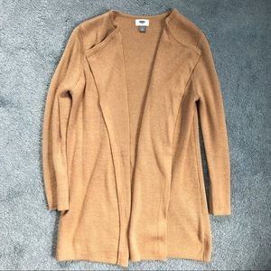 Old Navy camel tan cardigan size medium