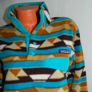 PATAGONIA SYNCHILLA Pullover AZTEC Turquoise MED.