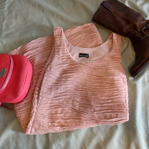 Wet Seal Dresses - Wet Seal Millennial Pink Ruffle Bodycon Dress