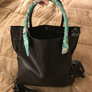 Authentic Givenchy Black Double Zippered Tote