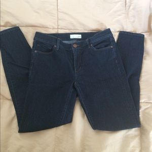 Loft Skinny Jeans Dark Wash