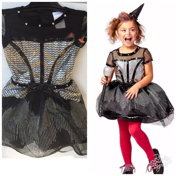 kids rock star witch girls halloween costume new