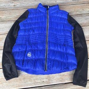 NWOT Michael Kors Blue and Black Puffy Jacket