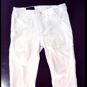 J.Crew White Skinny Jeans Zippered Ankle Size 27