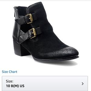 Women's Black Suede Booties
