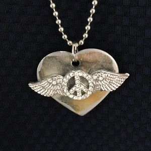Jewelry - Peace Heart Angel Wings necklace