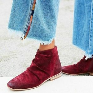 Free people suede ankle bootie