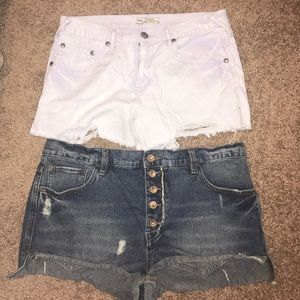 Two pairs of Free People shorts
