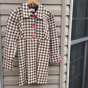 3 Sisters houndstooth coat