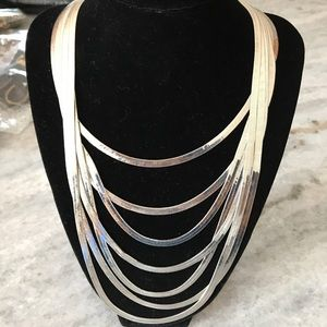 Cookie Lee 7 strand herringbone necklace