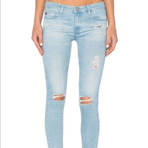 Distressed AG jeans the legging ankle