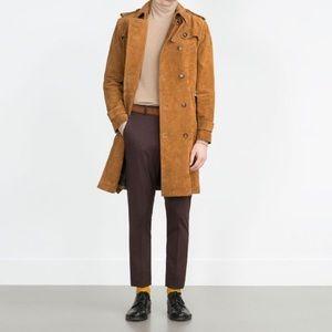 Zara Suede Trench Coat