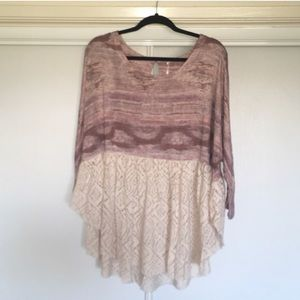 Free people oversized lace top