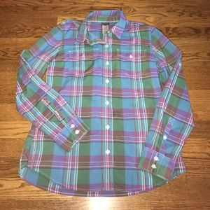 Patagonia ladies Plaid button Down Blouse Top S
