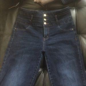 Refuge high waisted skinny jeans - like new