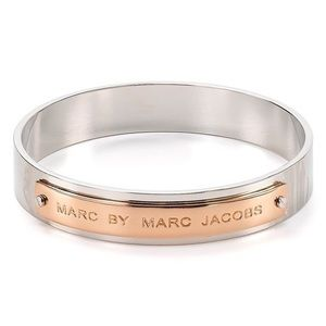 Marc by Marc Jacobs Logo Silver/Rose Gold Bangle