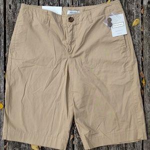 NWT Merona Khaki Cotton Bermuda Shorts