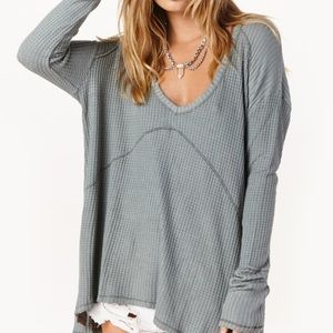 Free People sunset park thermal, light blue, small