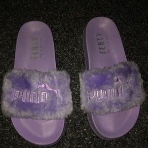 Purple Fenty Slides