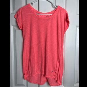 Coral active wear shirt