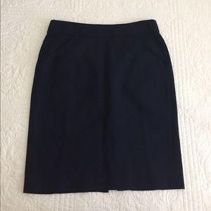 J Crew The Pencil Skirt Navy
