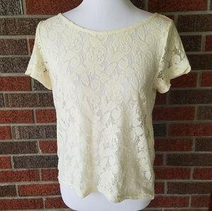 Zara Lace Short Sleeve Blouse