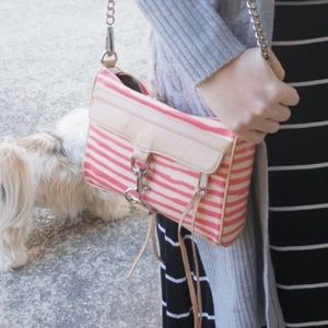 Mini M.A.C. Coated Crossbody Bag in Berry Stripe