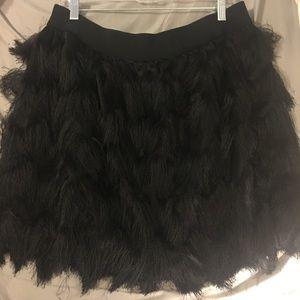 Banana Republic Holiday Fringe Skirt elastic waist